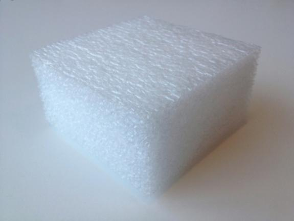 "48/"" x 24/"" x 1//2/"" Polyethylene Foam Sheet  White"